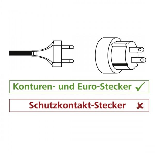 Hama Reiseadapter zum Anschluss von Ger??ten mit 2-poligen Konturen- oder Euro-Flachsteckern