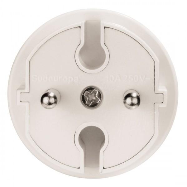 Hama Reiseadapter mit Stecker Typ E/L (S??deuropa) f??r Frankreich, Griechenland, Italien, Portugal, Spanien, T??rkei, Albanien, Monaco, Marokko und Tunesien
