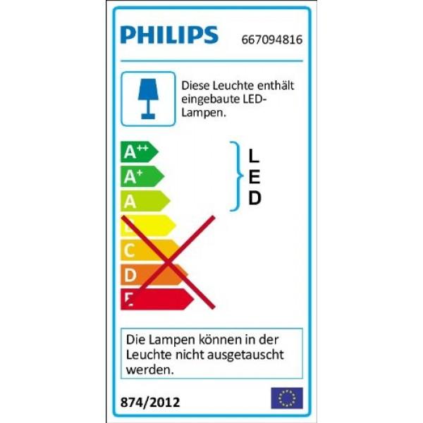 PHILIPS InStyle, Stehleuchte SWING mit 7,5W, inklusive LED-Leuchtmittel - Energieeffizienz