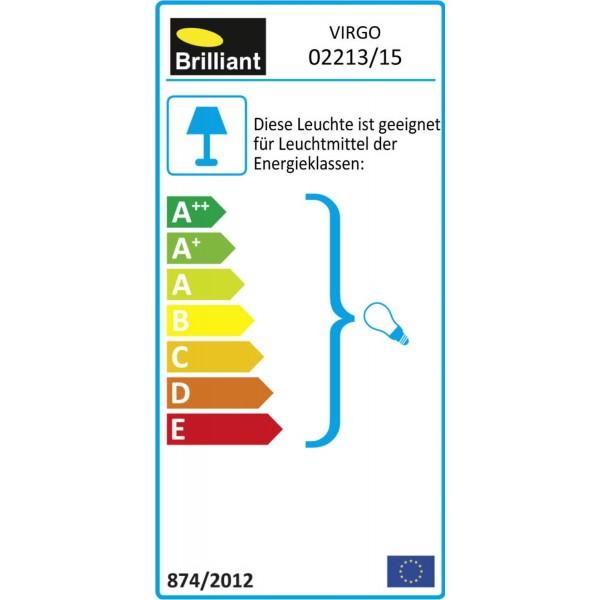 Brilliant 02213/15 Virgo Spotrohr, 2-flammig Metall Lampe