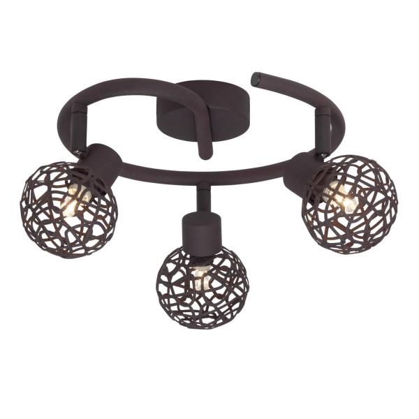 Brilliant 02233/20 Virgo Spotspirale, 3-flammig Metall Leuchte