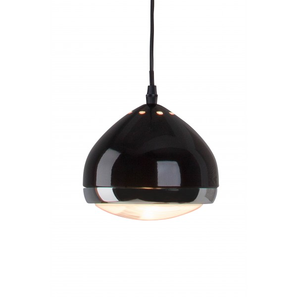Brilliant 04370/06 Rider Pendelleuchte, 1-flammig Metall/Glas Lampe