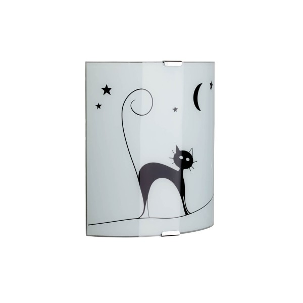 Brilliant 05910/75 Cat Wandleuchte Glas/Metall Beleuchtung