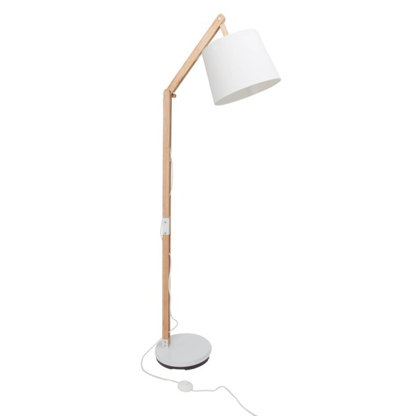 Brilliant 09958A75 Carlyn Standleuchte, 1-flammig Metall/Holz/Textil Lampe