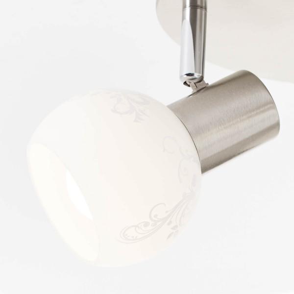 Brilliant 10534/05 Bona Spotrondell, 3-flammig Metall/Glas Lampe