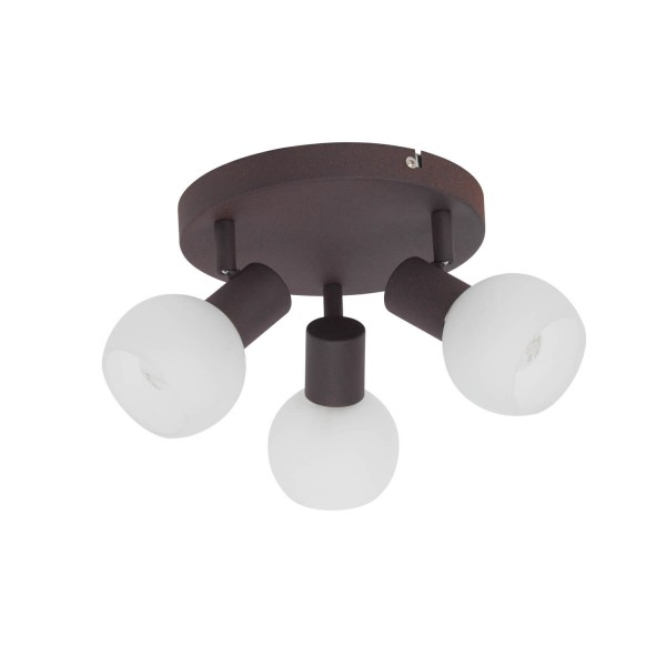 Brilliant 12934/20 Gabon Spotrondell, 3-flammig Metall/Glas Beleuchtung