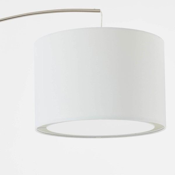 Brilliant 13258/05 Clarie Bogenstandleuchte 1,8m Metall/Textil Lampe