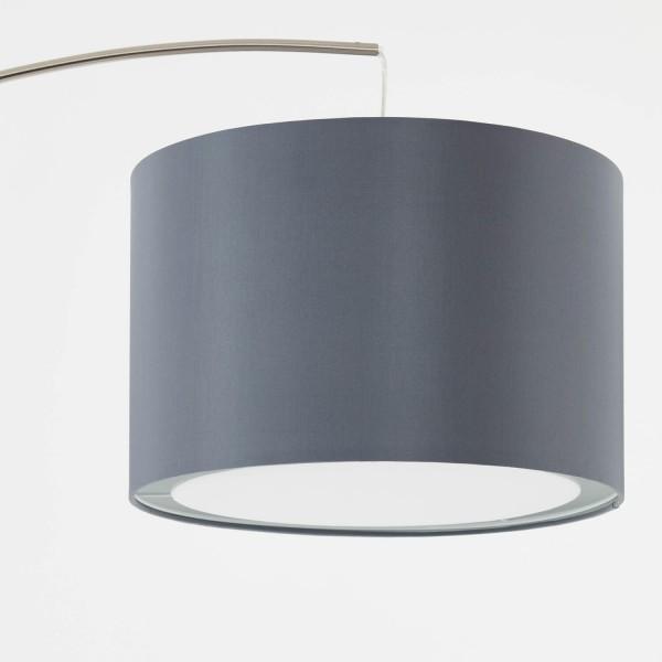Brilliant 13258/22 Clarie Bogenstandleuchte 1,8m Metall/Textil Lampe
