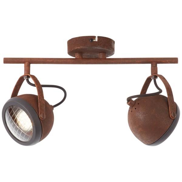 Brilliant 14913/55 Rider Spotrohr, 2-flammig Metall/Glas Lampe