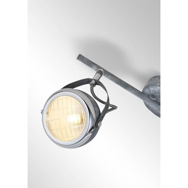 Brilliant 14913/70 Rider Spotrohr, 2-flammig Metall/Glas Beleuchtung