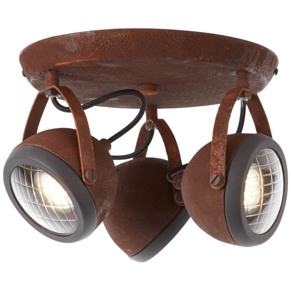 Brilliant 14934/55 Rider Spotrondell, 3-flammig Metall/Glas Leuchte