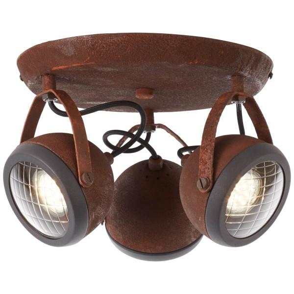 Brilliant 14934/55 Rider Spotrondell, 3-flammig Metall/Glas Lampe