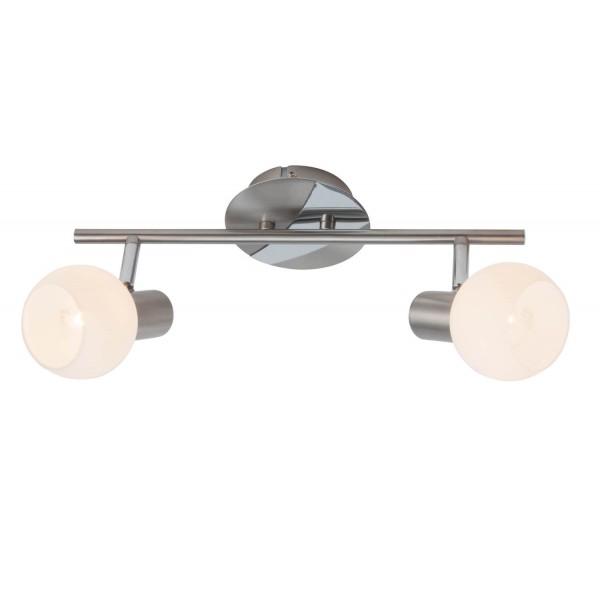 Brilliant 15613/13 Tiara Spotrohr, 2-flammig Metall/Glas Leuchte