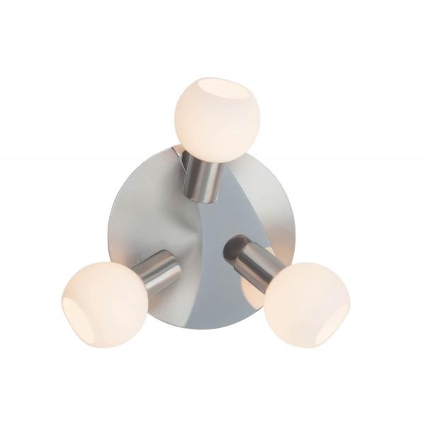 Brilliant 15634/13 Tiara Spotrondell, 3-flammig Metall/Glas Lampe