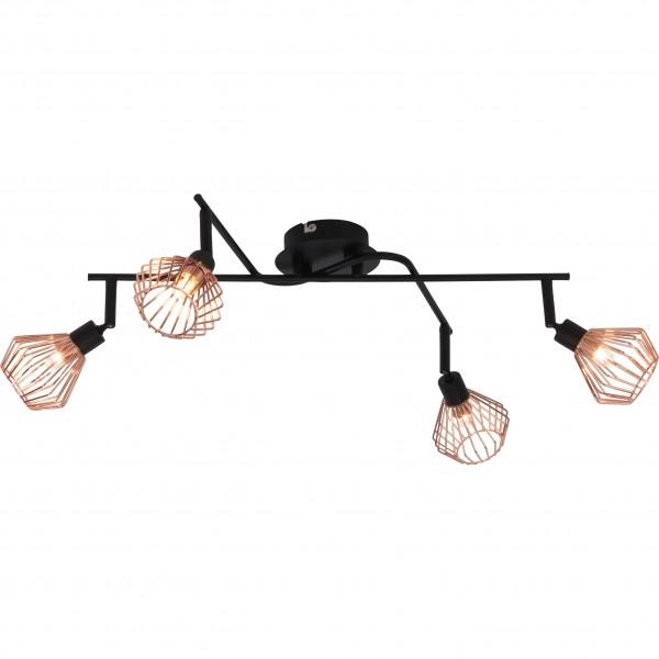 Brilliant 21094/76 Dalma Deckenspot, 4-flammig (Kreuz) Metall Beleuchtung