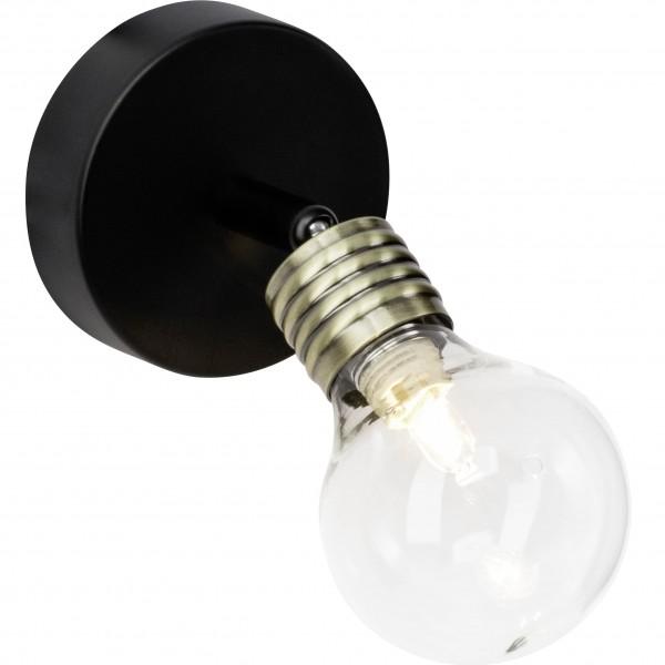 Brilliant 21210/76 Bulb Wandspot Metall/Glas Beleuchtung
