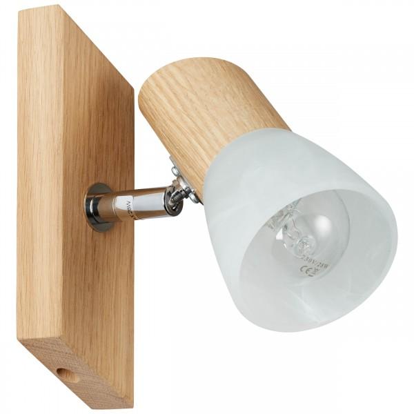 Brilliant 23110/35 Forest Wandspot Holz/Glas Beleuchtung