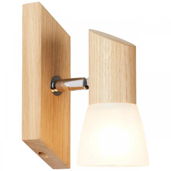 Brilliant 23110/35 Forest Wandspot Holz/Glas Lampe