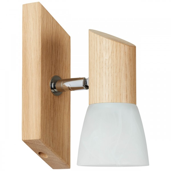 Brilliant 23110/35 Forest Wandspot Holz/Glas Haengeleuchte