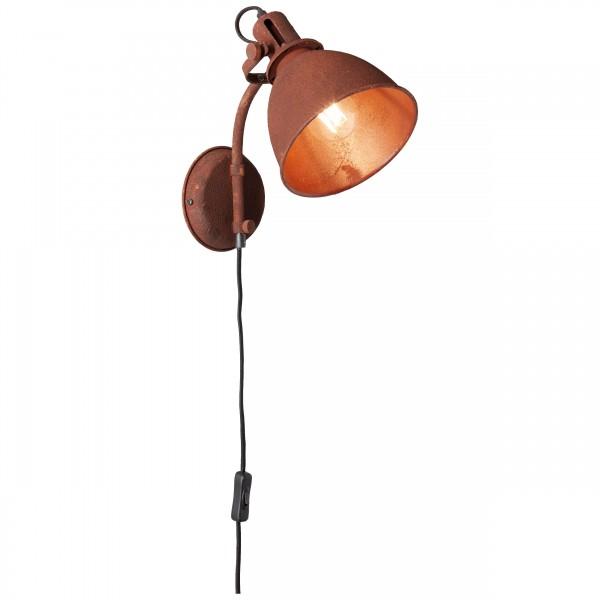 Brilliant 23710/55 Jesper Wandspot mit Zuleitung und Schalter Metall Leuchte