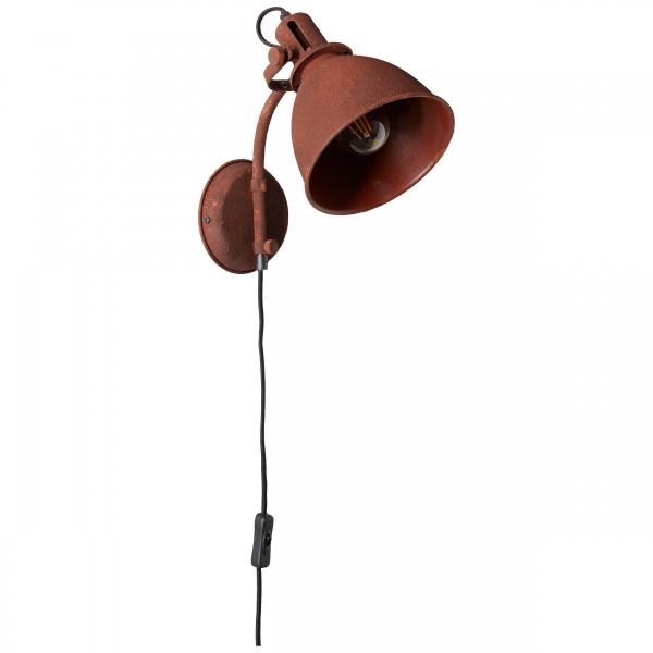 Brilliant 23710/55 Jesper Wandspot mit Zuleitung und Schalter Metall Beleuchtung
