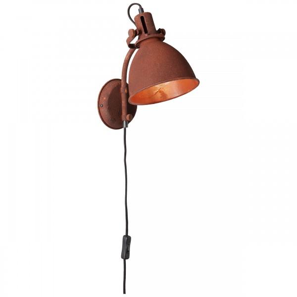 Brilliant 23710/55 Jesper Wandspot mit Zuleitung und Schalter Metall Lampe
