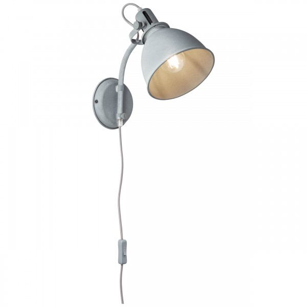 Brilliant 23710/70 Jesper Wandspot mit Zuleitung und Schalter Metall Leuchte