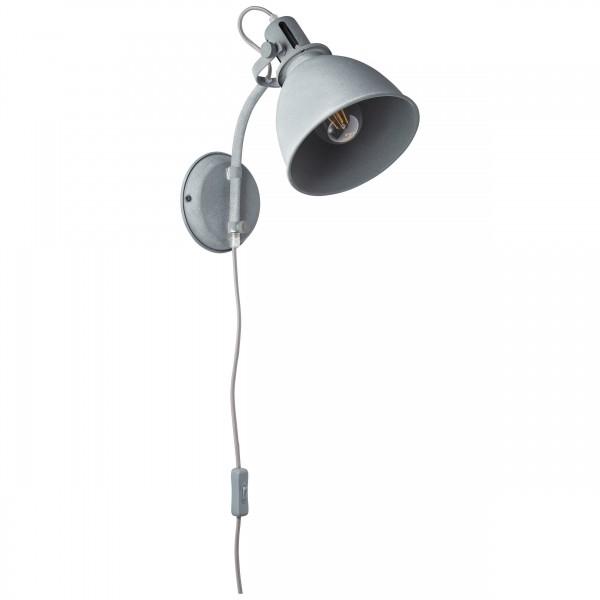 Brilliant 23710/70 Jesper Wandspot mit Zuleitung und Schalter Metall Beleuchtung