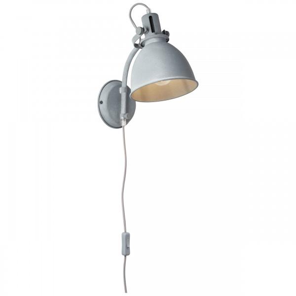 Brilliant 23710/70 Jesper Wandspot mit Zuleitung und Schalter Metall Lampe