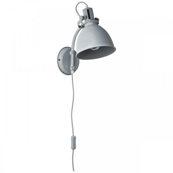 Brilliant 23710/70 Jesper Wandspot mit Zuleitung und Schalter Metall Haengeleuchte