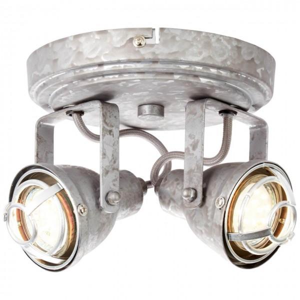 Brilliant 26324/43 Bente Spotrondell, 2-flammig Metall Leuchte