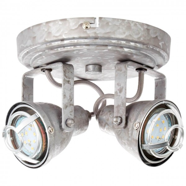 Brilliant 26324/43 Bente Spotrondell, 2-flammig Metall Beleuchtung
