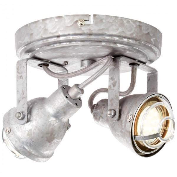 Brilliant 26324/43 Bente Spotrondell, 2-flammig Metall Lampe