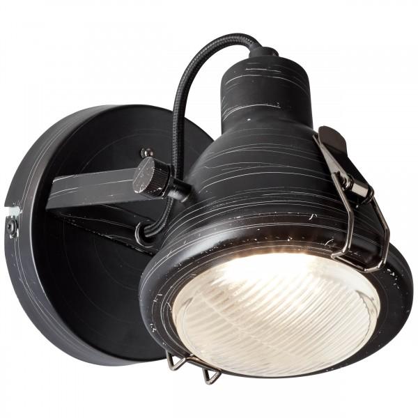 Brilliant 26810/76 Bentli Wandspot Metall/Glas Lampe