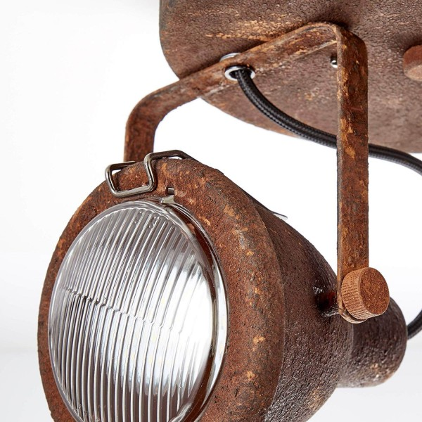 Brilliant 26824/60 Bentli Spotrondell, 2-flammig Metall/Glas Beleuchtung