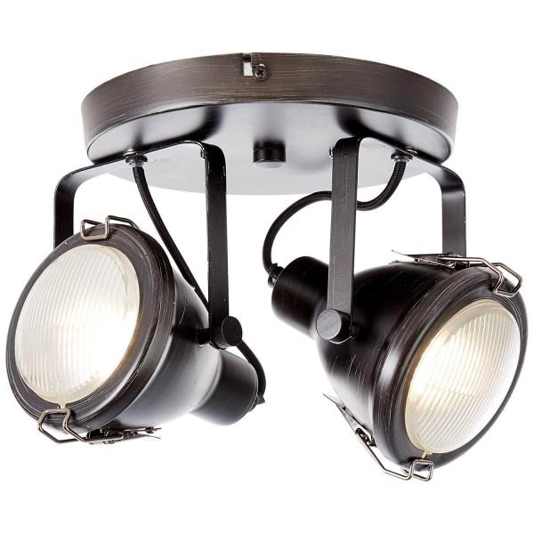 Brilliant 26824/76 Bentli Spotrondell, 2-flammig Metall/Glas Lampe
