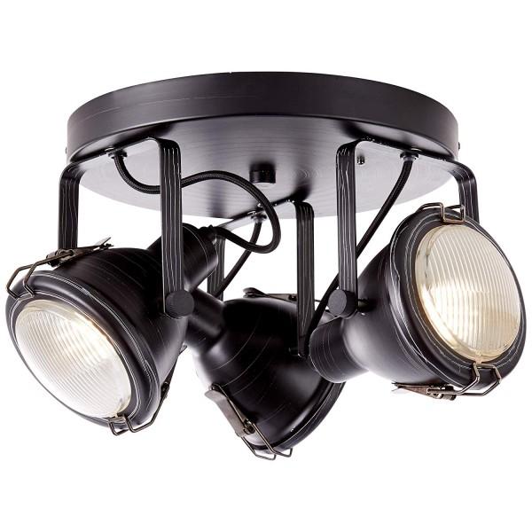 Brilliant 26834/76 Bentli Spotrondell, 3-flammig Metall/Glas Beleuchtung