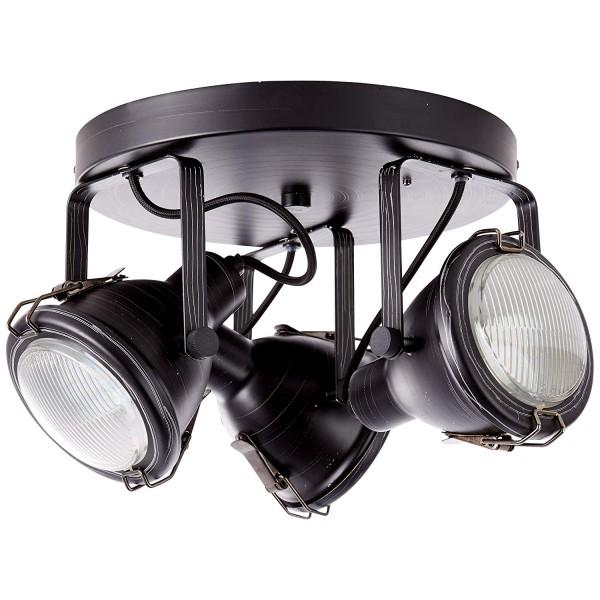 Brilliant 26834/76 Bentli Spotrondell, 3-flammig Metall/Glas Lampe