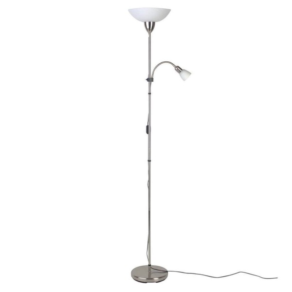 Brilliant 27161/13 Darlington Deckenfluter mit Lesearm Metall/Glas Leuchte