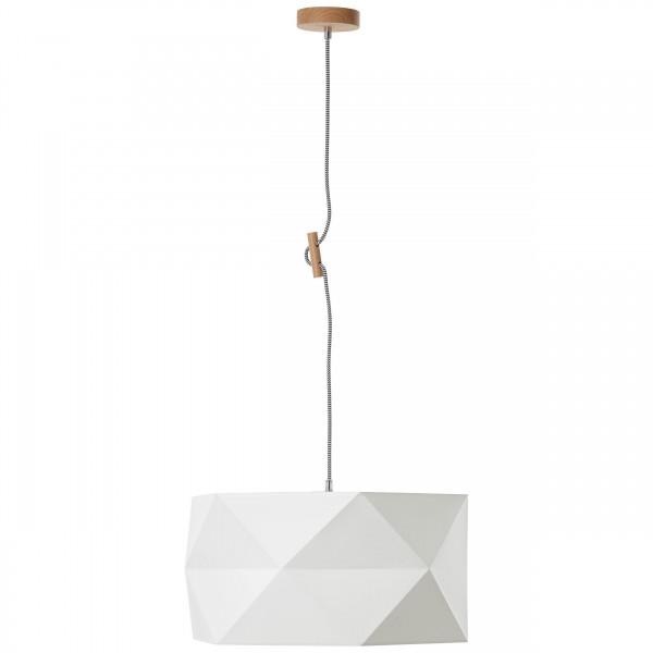 Brilliant 31970/35 Polygon Pendelleuchte 43cm Holz/Textil Beleuchtung