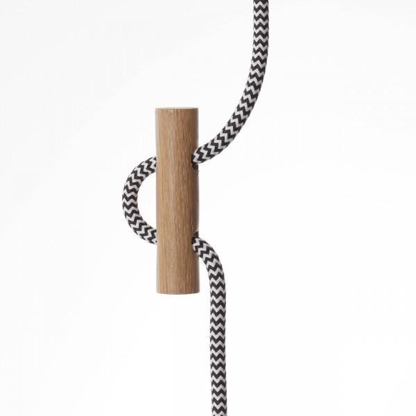 Brilliant 31970/35 Polygon Pendelleuchte 43cm Holz/Textil Lampe