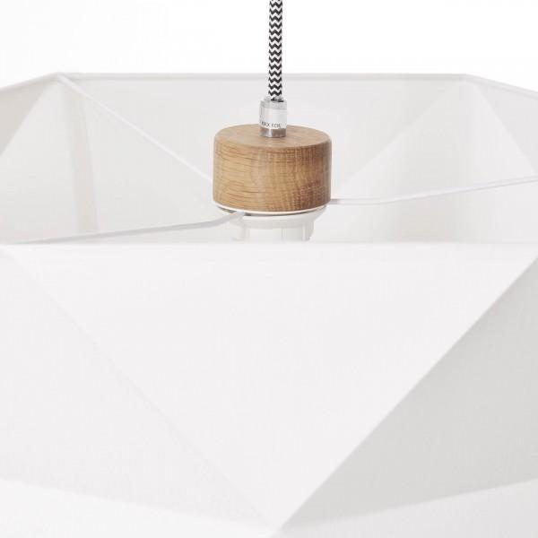 Brilliant 31970/35 Polygon Pendelleuchte 43cm Holz/Textil Haengeleuchte