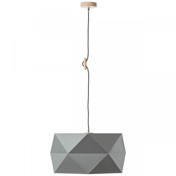 Brilliant 31970/63 Polygon Pendelleuchte 43cm Holz/Textil Leuchte