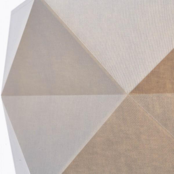Brilliant 31970/63 Polygon Pendelleuchte 43cm Holz/Textil Lampe