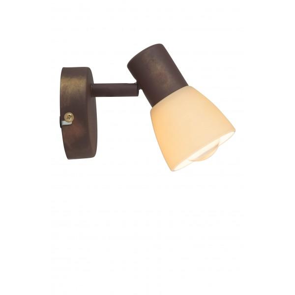 Brilliant 35810/56 Luca Wandspot Metall/Glas Lampe