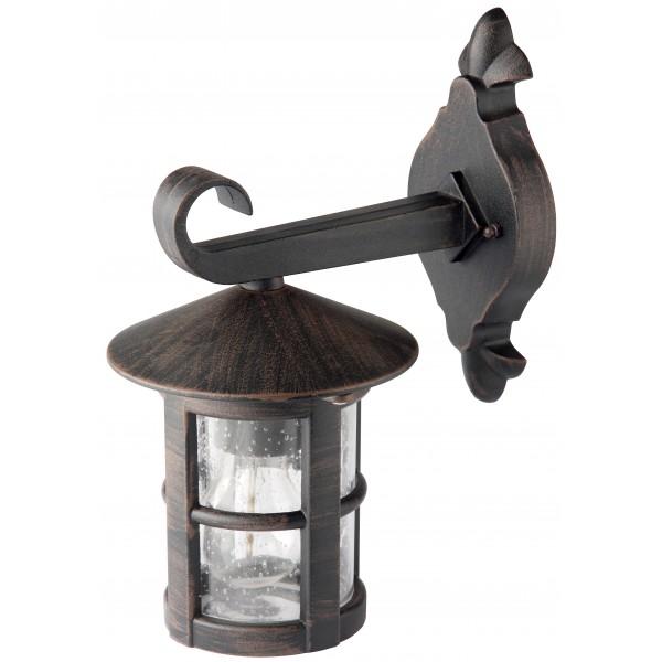 Brilliant 45582/60 Jordy Aussenwandleuchte, haengend Metall/Glas Leuchte