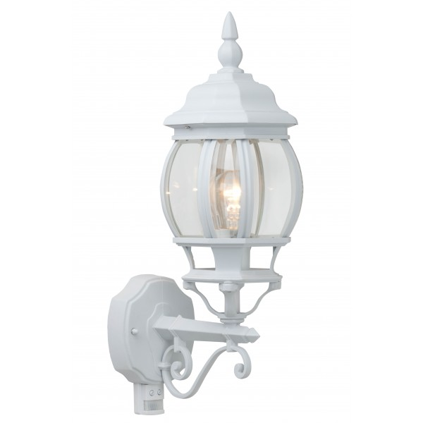 Brilliant 48697/05 Istria Aussenwandleuchte, stehend mit Bewegungsmelder Aluminium-Druckguss/Glas Leuchte