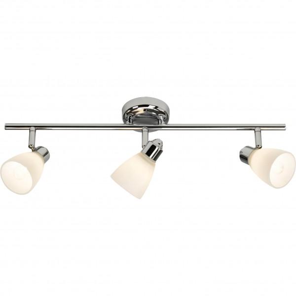 Brilliant 50416/15 Kensington Spotrohr, 3-flammig Metall/Glas Leuchte