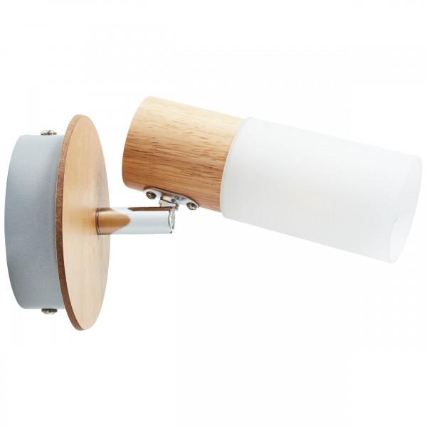 Brilliant 51410/50 Babsan Wandspot Metall/Holz/Kunststoff Leuchte