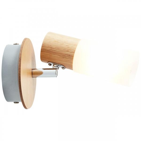 Brilliant 51410/50 Babsan Wandspot Metall/Holz/Kunststoff Beleuchtung
